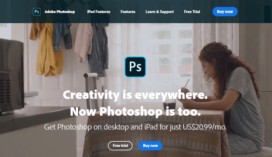 Adobe Photoshop- best photo editing software for professionals