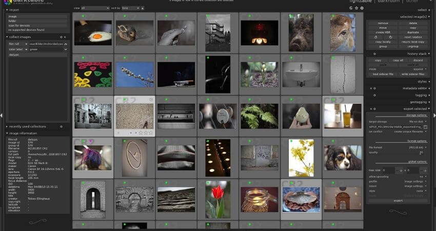 Darktable-free photo editing software