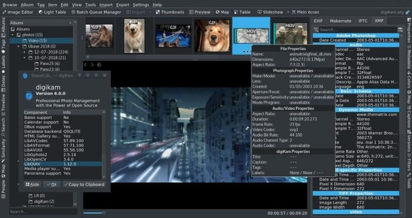 Digikam-free photo organizing software