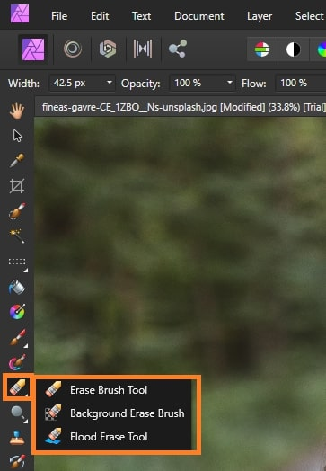 Erase Brush Tool