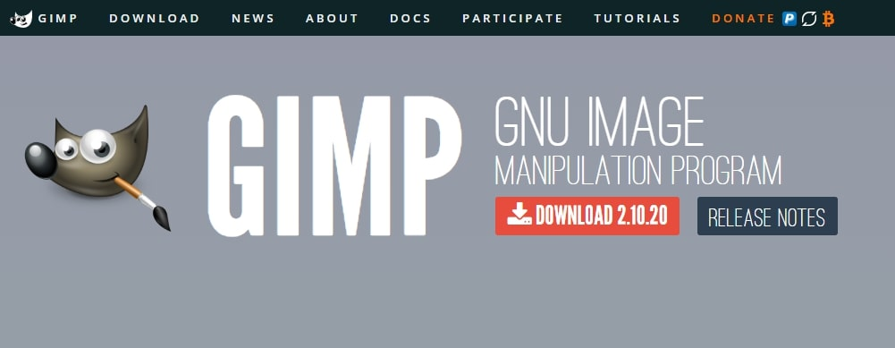 Gimp official page