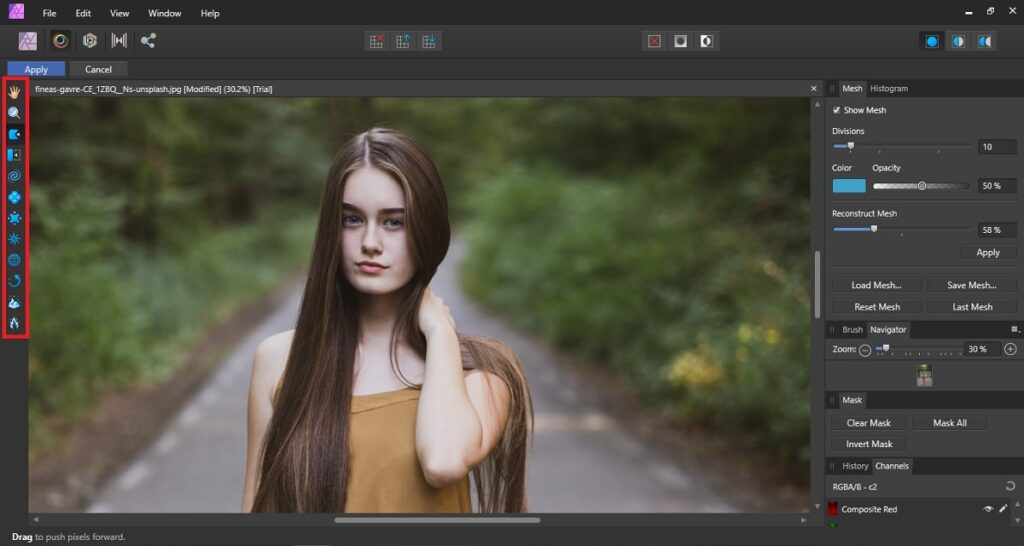 Liquify Persona in Affinity Photo
