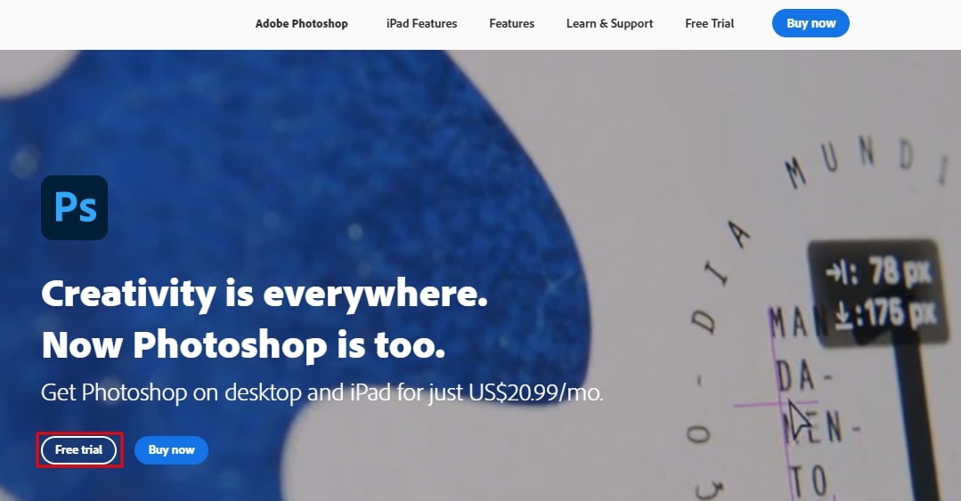 photoshop official page