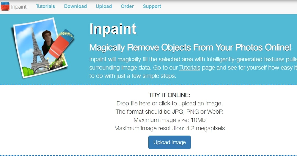 InPaint- best app to remove shadow from photos online