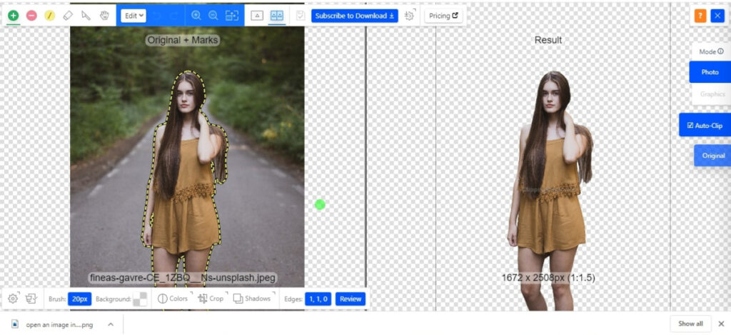 clipping magic removes the background and makes it transparent