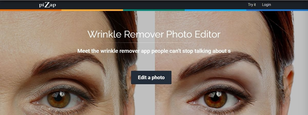 Pizap- free wrinkle remover app online
