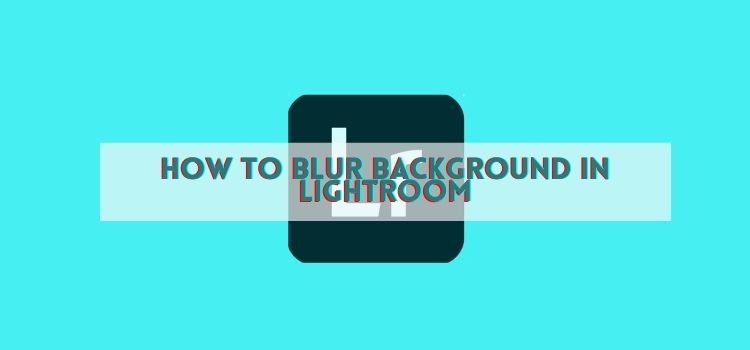 How to blur background in lightroom