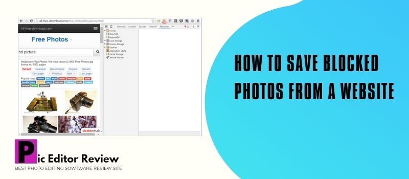 How to Save Blocked Photos from a Website