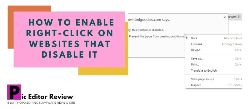 How to enable right-click on websites that disable it