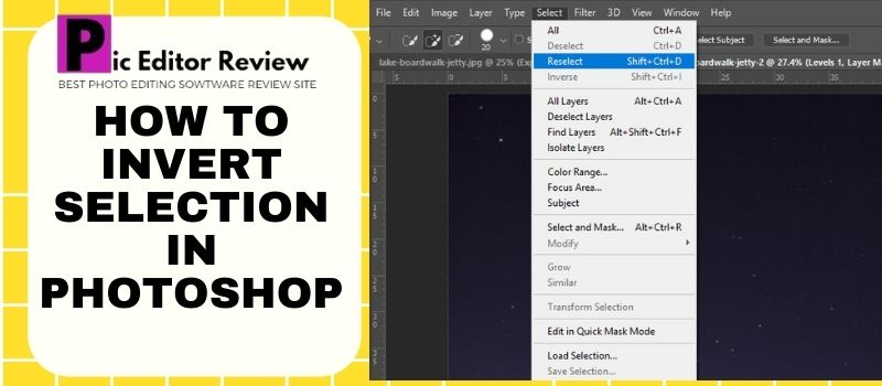 How to invert selection in Photoshop