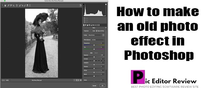 How to make an old photo effect in Photoshop